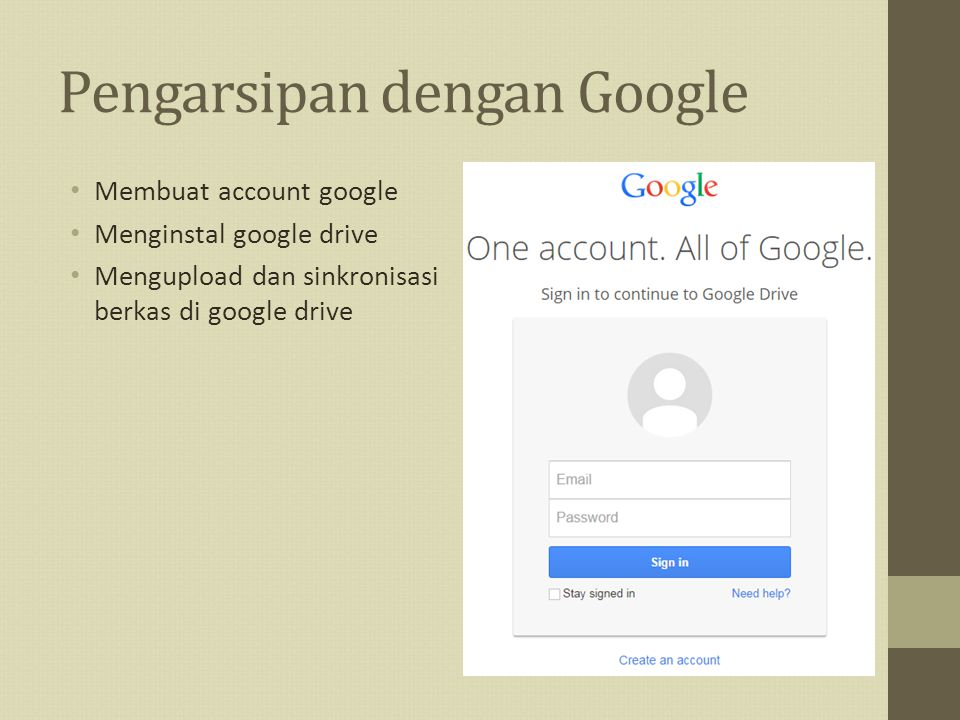 Pengarsipan dengan Google