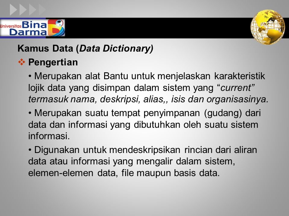 Kamus Data (Data Dictionary)