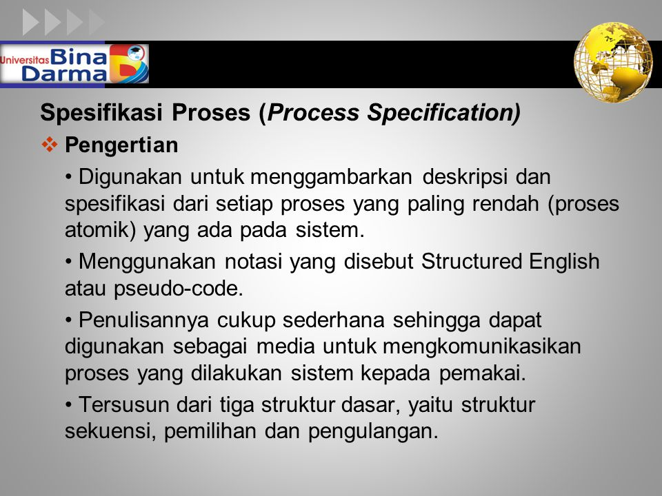 Spesifikasi Proses (Process Specification)