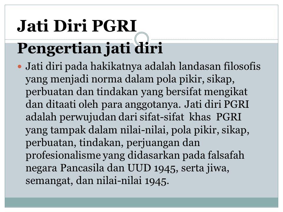 Jati Diri PGRI Pengertian jati diri