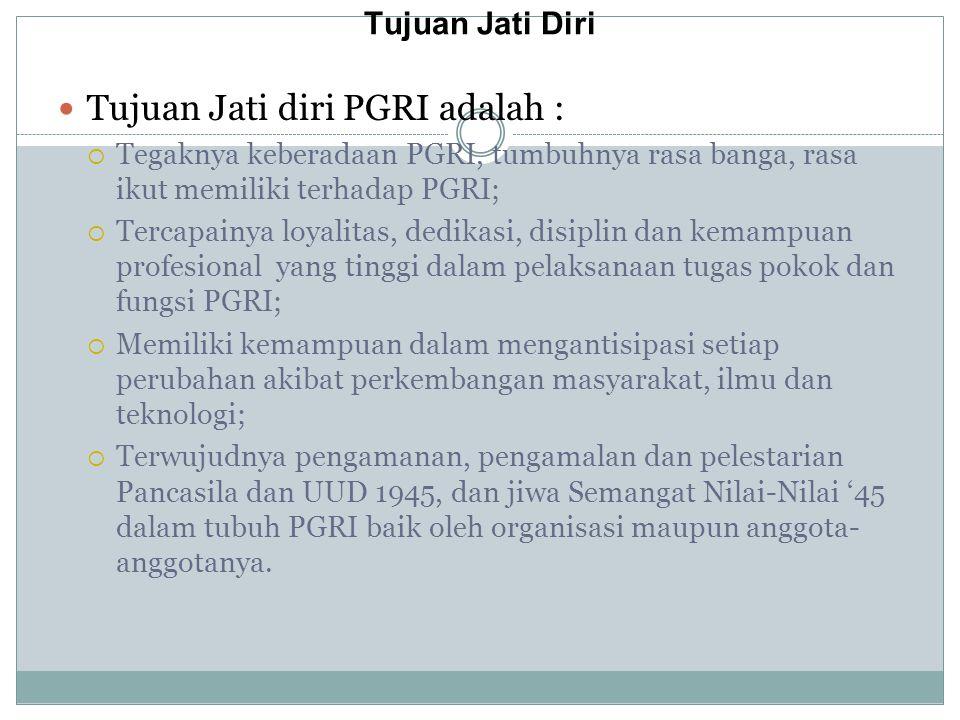 Tujuan Jati diri PGRI adalah :