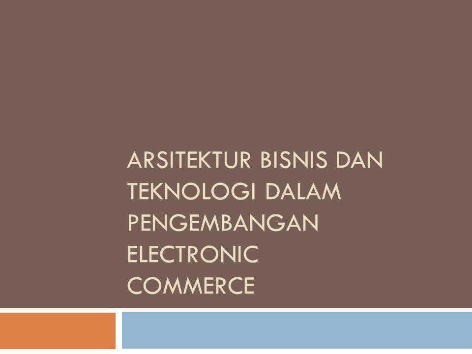 Arsitektur Bisnis dan Teknologi dalam Pengembangan Electronic Commerce