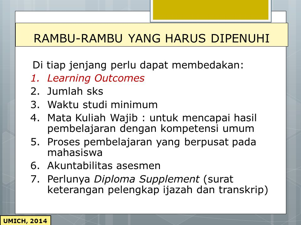 RAMBU-RAMBU YANG HARUS DIPENUHI
