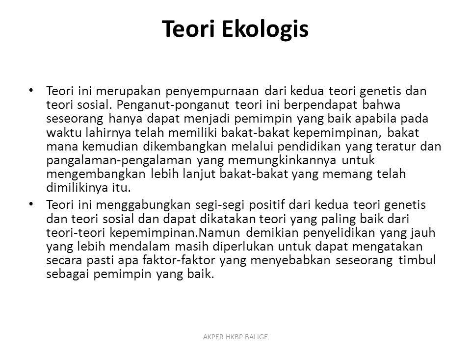 Teori Ekologis