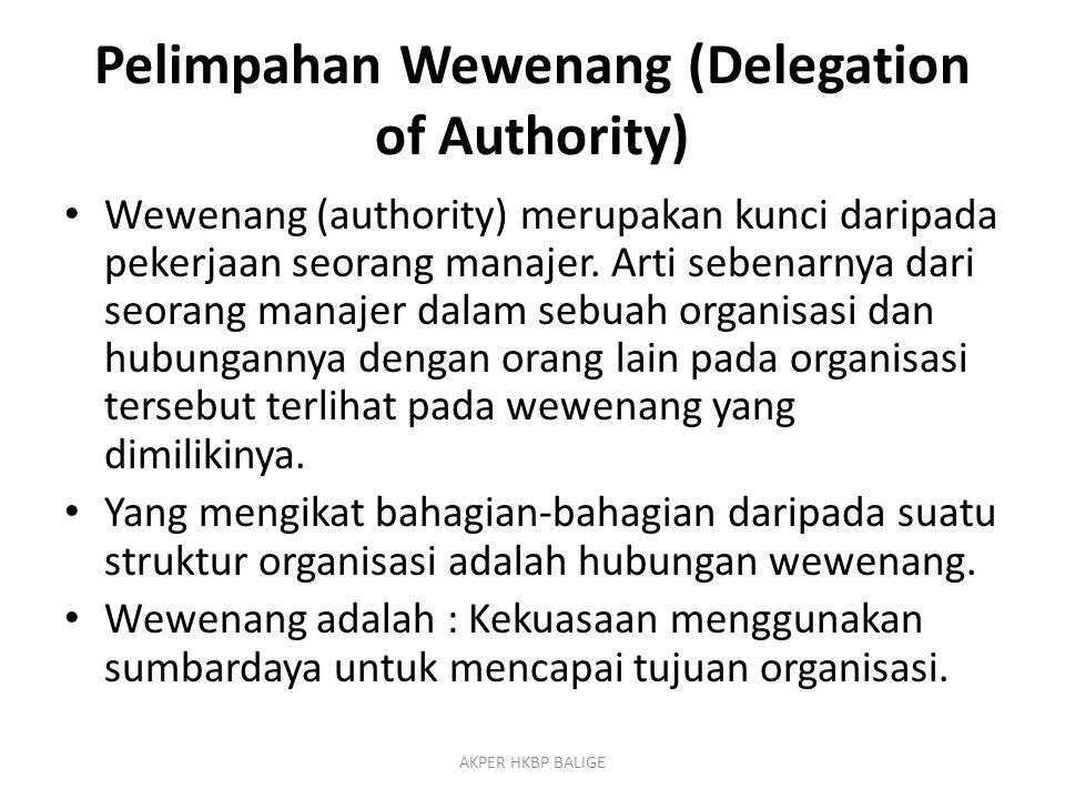Pelimpahan Wewenang (Delegation of Authority)