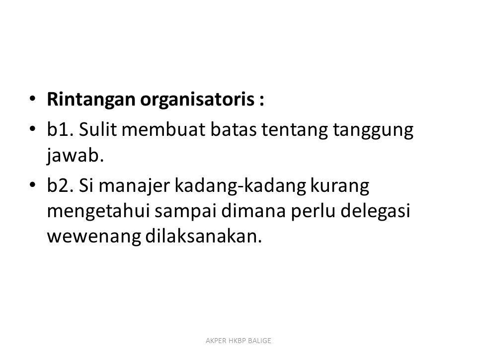 Rintangan organisatoris :