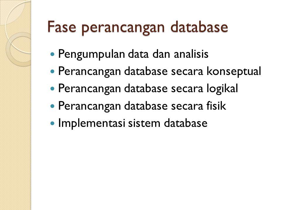 Fase perancangan database