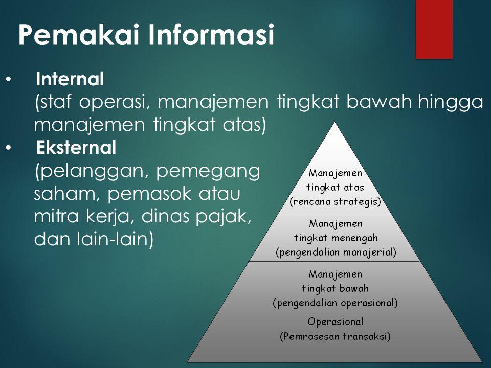 Pemakai Informasi Internal
