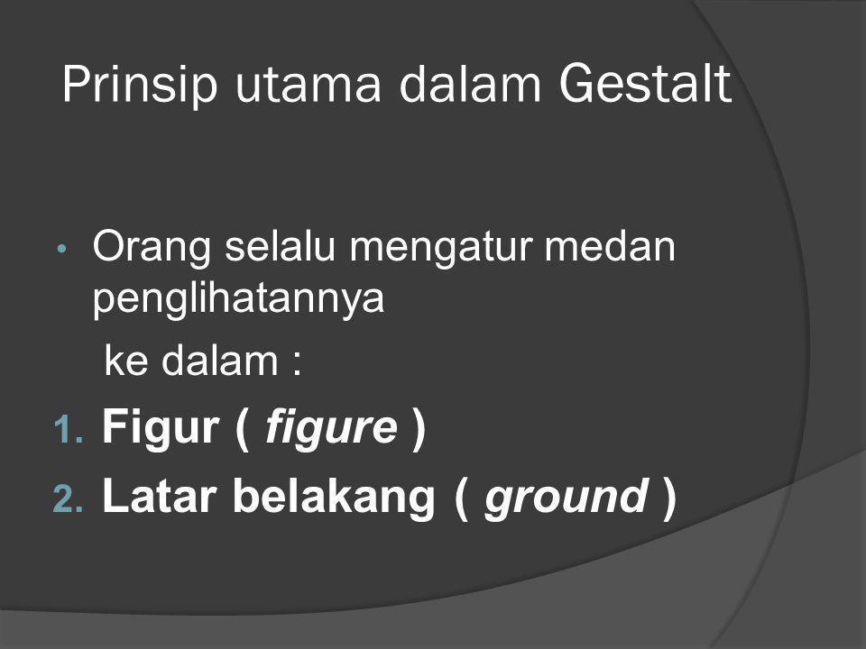 Prinsip utama dalam Gestalt