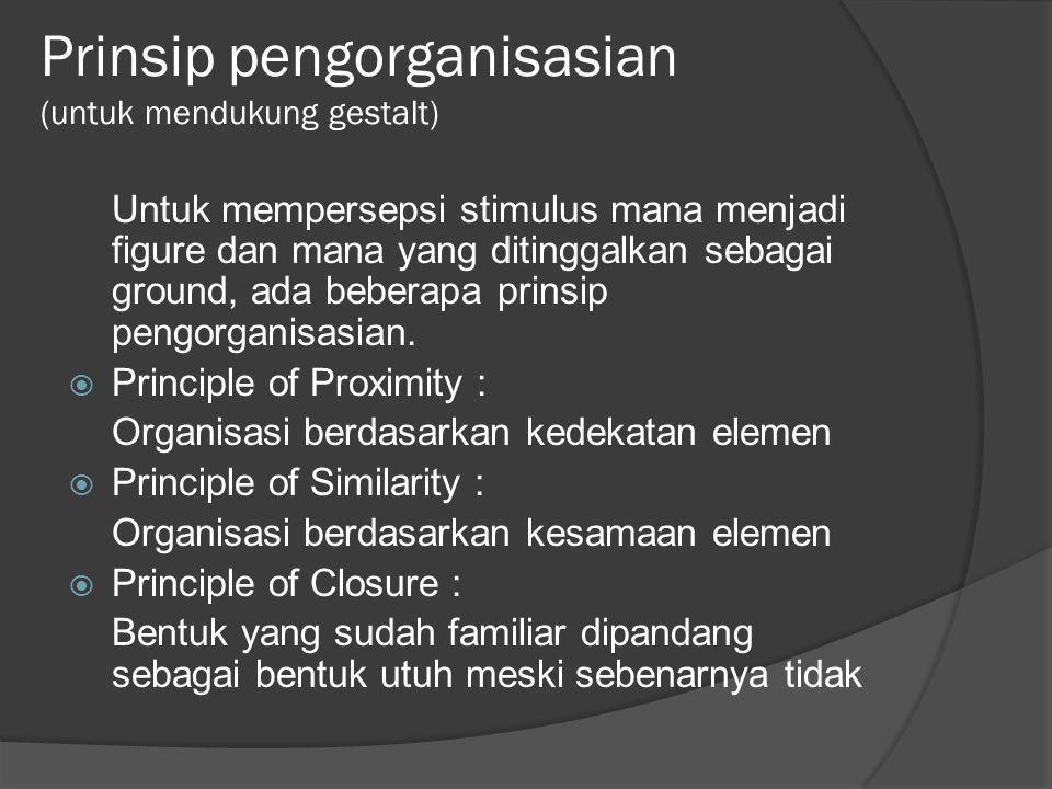 Prinsip pengorganisasian (untuk mendukung gestalt)