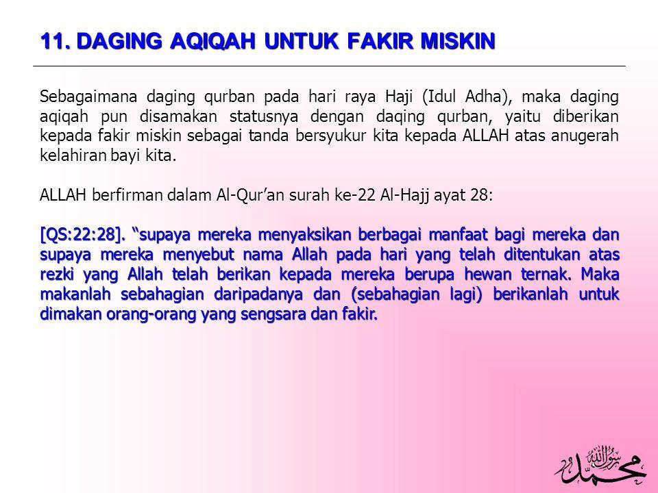 11. DAGING AQIQAH UNTUK FAKIR MISKIN