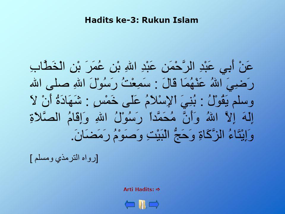 Hadits ke-3: Rukun Islam