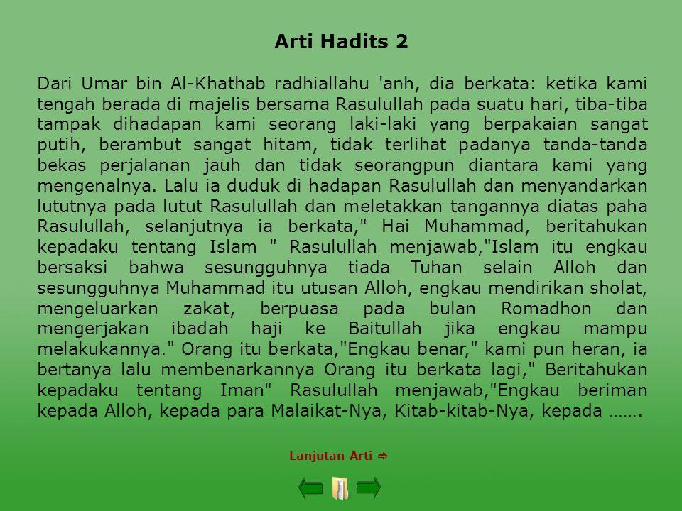 Arti Hadits 2