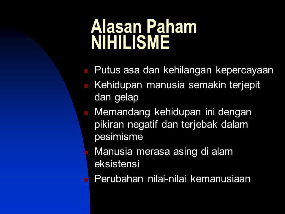 Alasan Paham NIHILISME