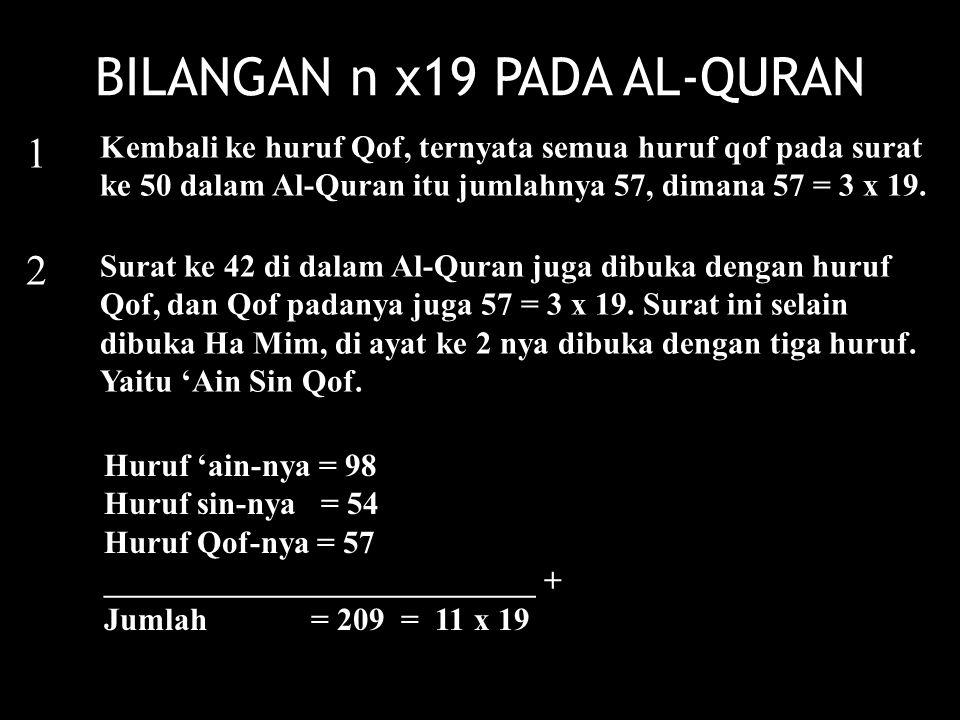 BILANGAN n x19 PADA AL-QURAN
