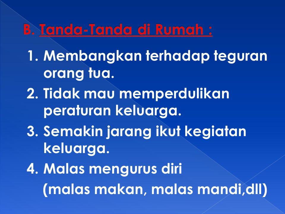 B. Tanda-Tanda di Rumah :