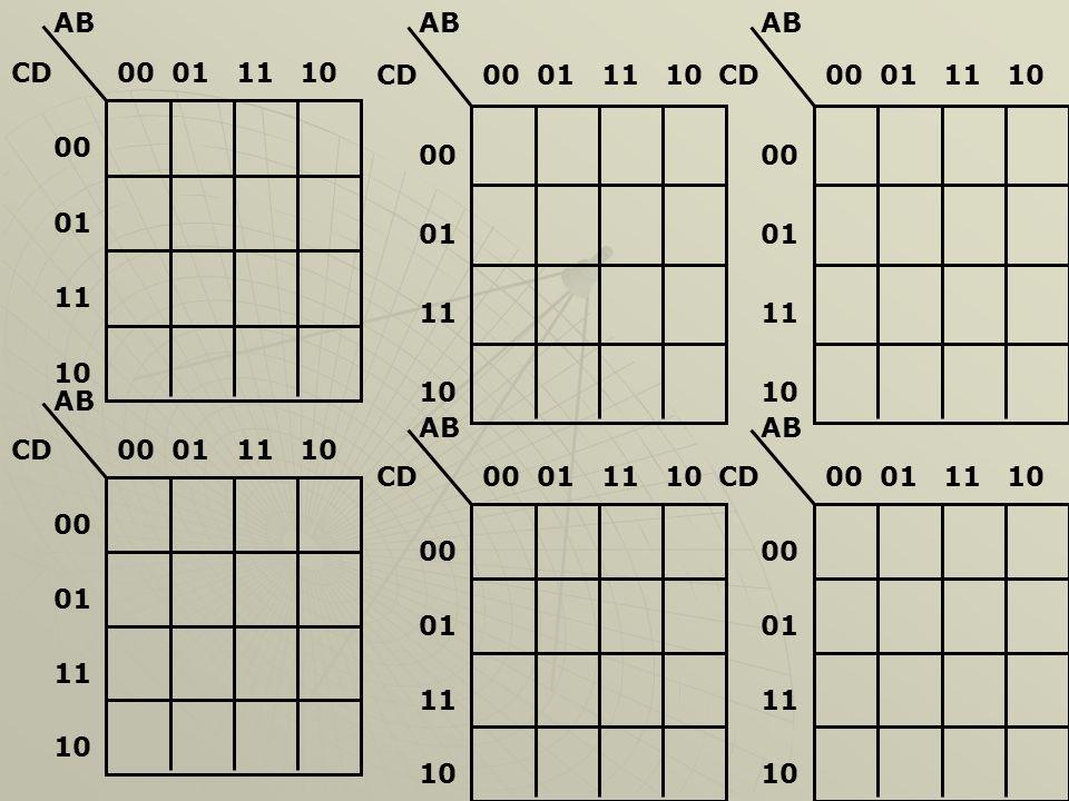 AB CD. 00. 01. 11. 10. AB. CD. 00. 01. 11. 10. AB. CD. 00. 01. 11. 10. AB. CD. 00.