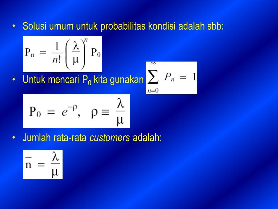 Solusi umum untuk probabilitas kondisi adalah sbb: