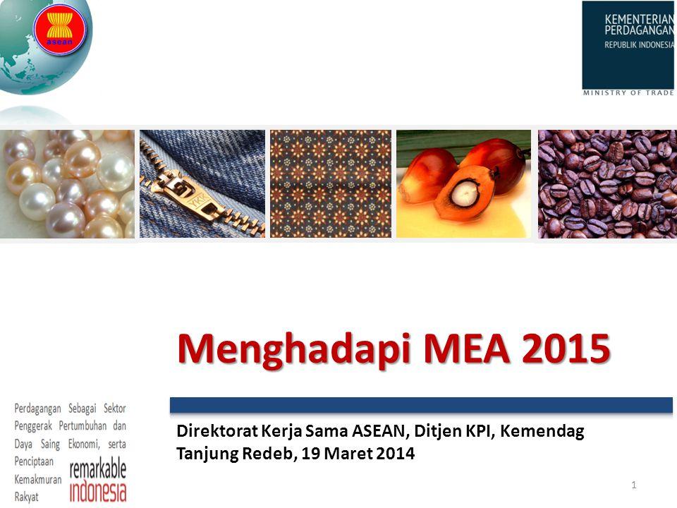 Menghadapi MEA 2015 Direktorat Kerja Sama ASEAN, Ditjen KPI, Kemendag