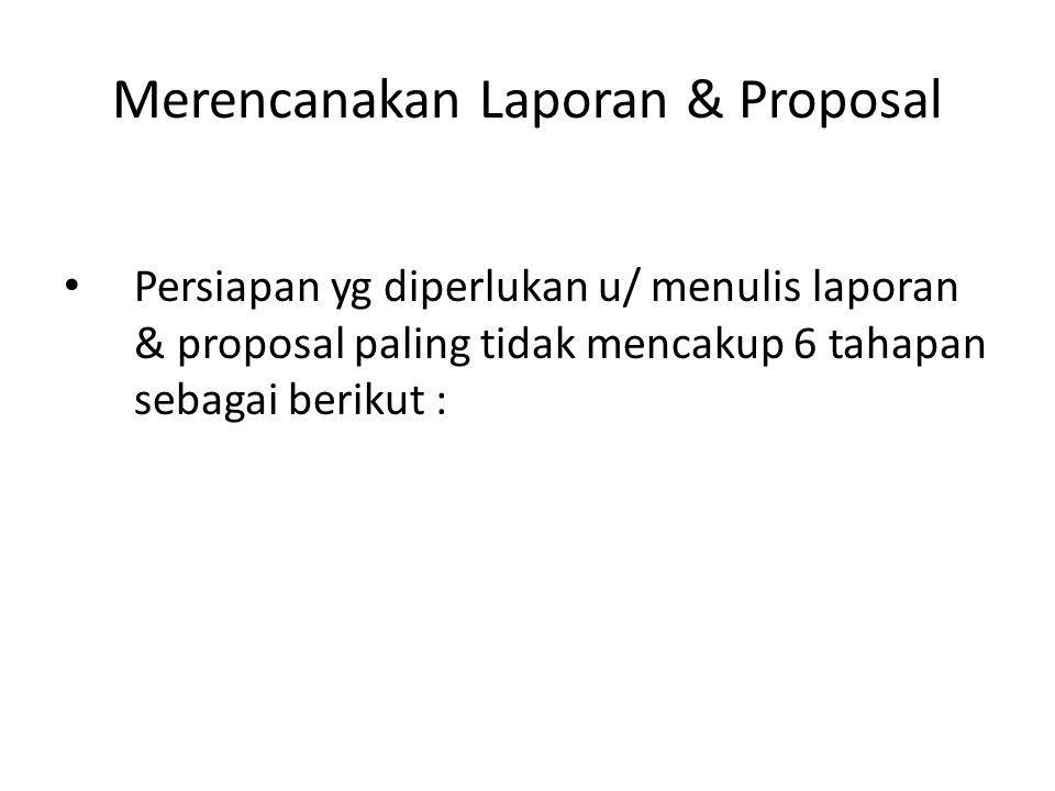 Merencanakan Laporan & Proposal