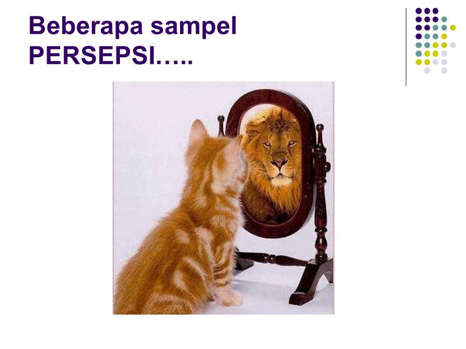 Beberapa sampel PERSEPSI…..