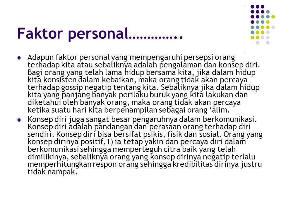 Faktor personal…………..