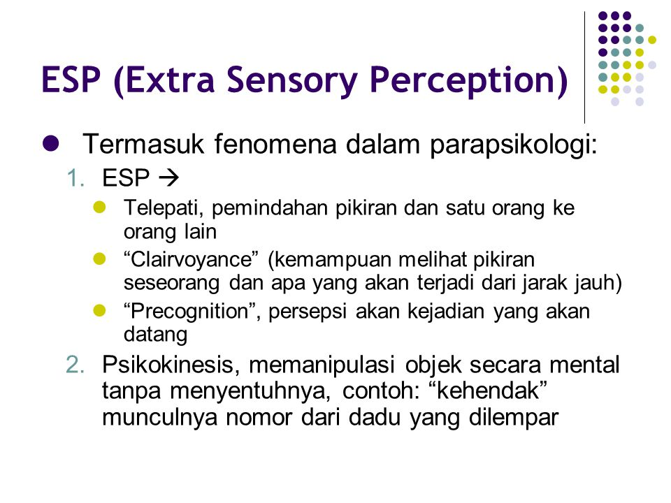 ESP (Extra Sensory Perception)
