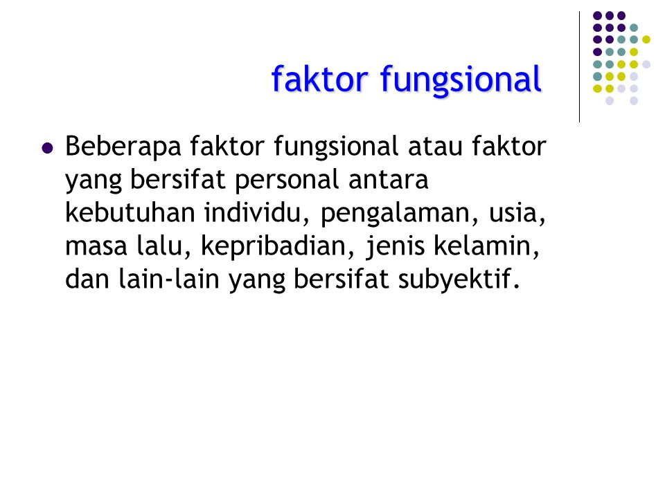 faktor fungsional