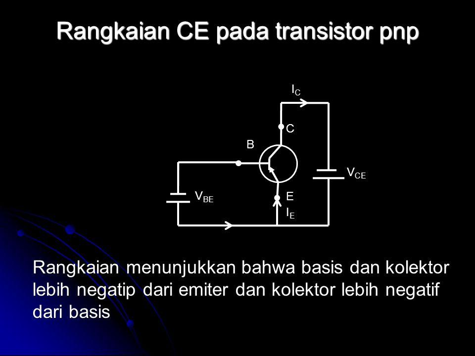 Rangkaian CE pada transistor pnp
