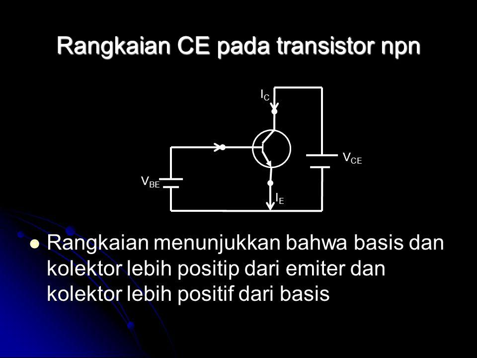 Rangkaian CE pada transistor npn