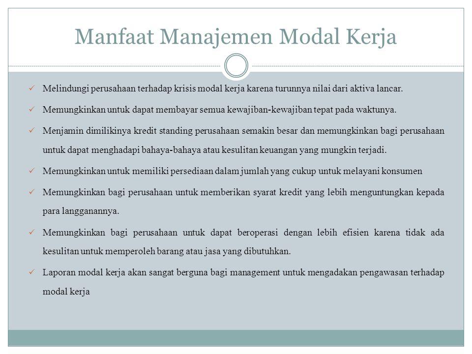 Manfaat Manajemen Modal Kerja