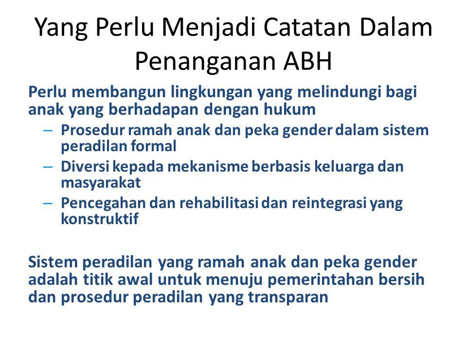 Yang Perlu Menjadi Catatan Dalam Penanganan ABH