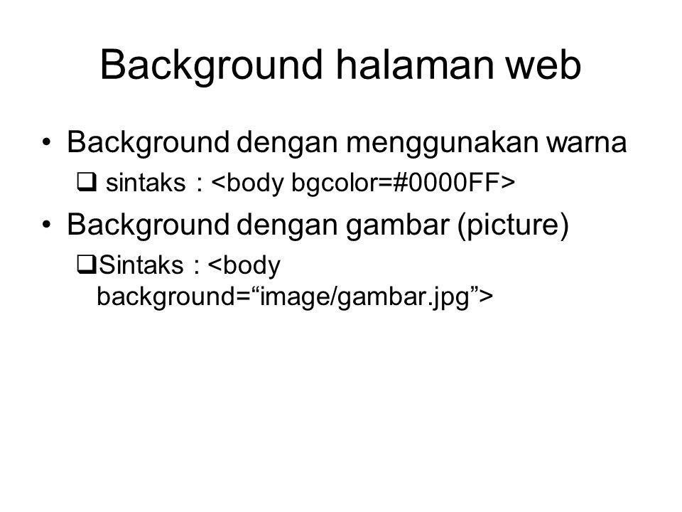 Background halaman web
