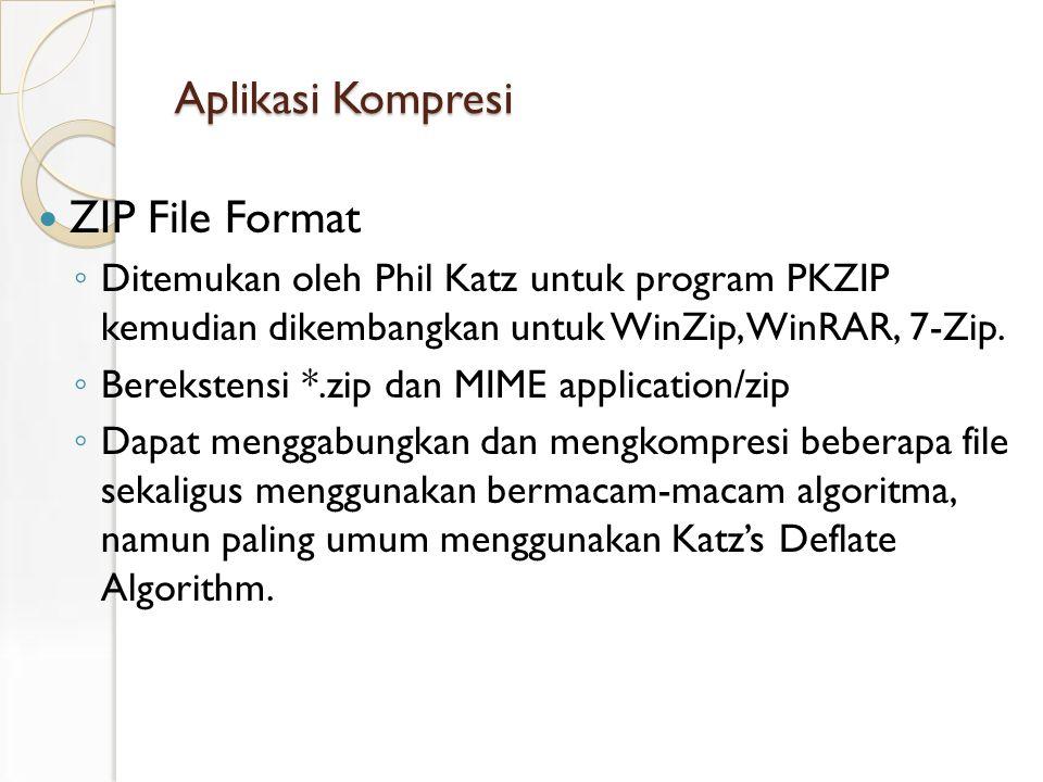 Aplikasi Kompresi ZIP File Format
