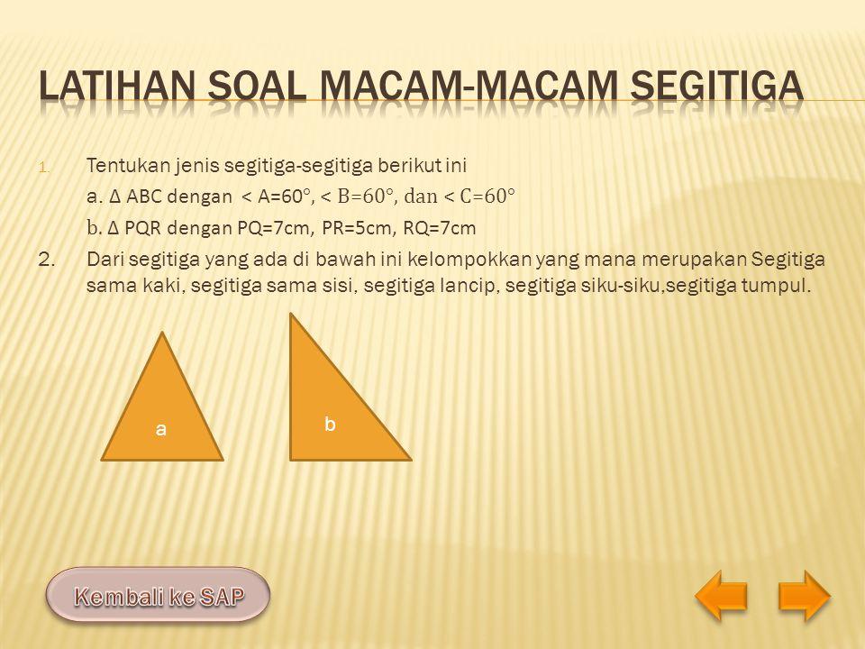Latihan soal macam-macam segitiga