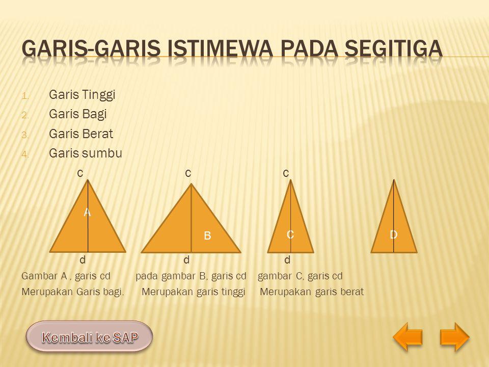 Garis-garis istimewa pada segitiga