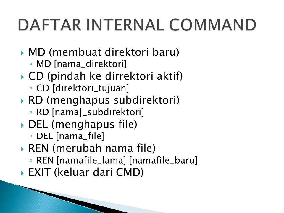 DAFTAR INTERNAL COMMAND