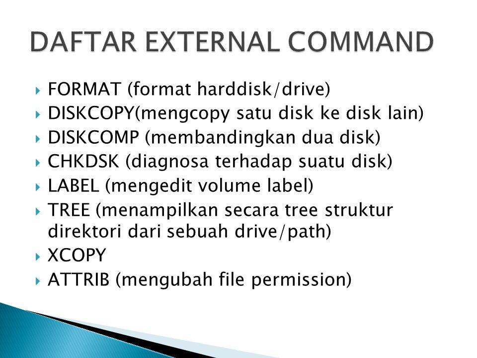DAFTAR EXTERNAL COMMAND