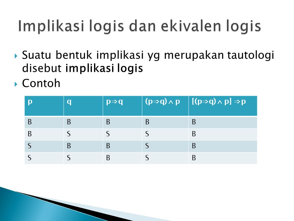 Implikasi logis dan ekivalen logis