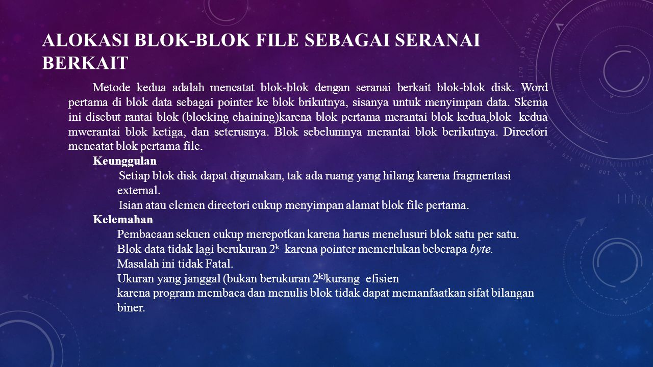Alokasi Blok-blok File Sebagai Seranai Berkait