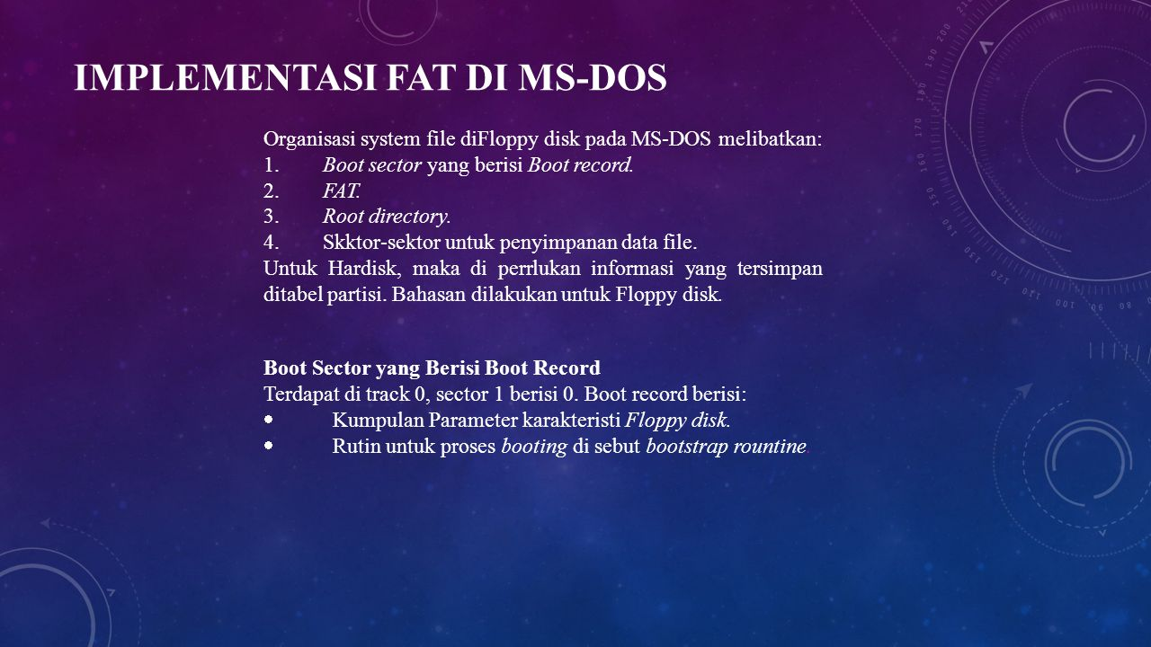 Implementasi Fat di MS-DOS