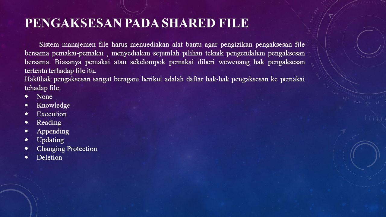 Pengaksesan pada Shared File