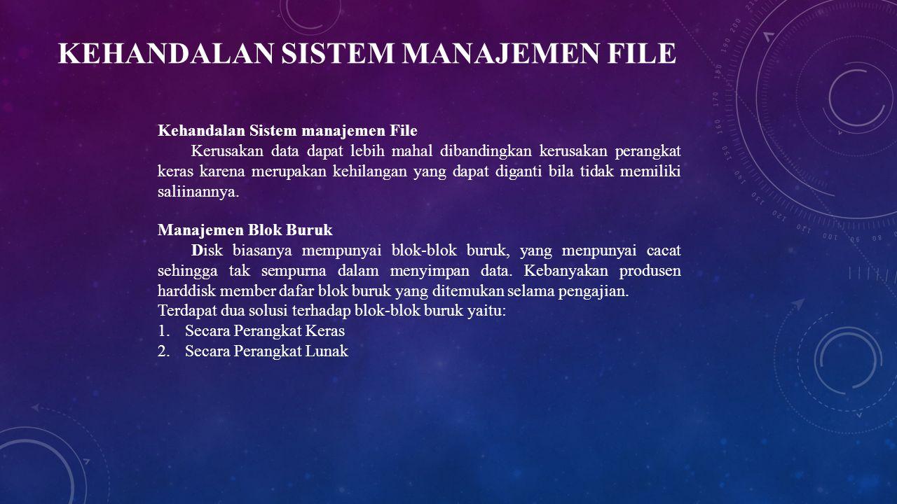 Kehandalan Sistem manajemen File