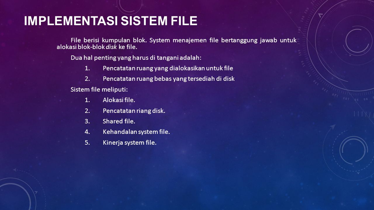 Implementasi Sistem File