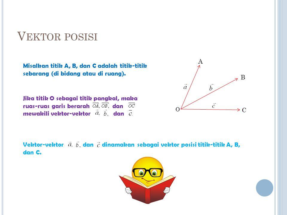 Vektor posisi A. Misalkan titik A, B, dan C adalah titik-titik sebarang (di bidang atau di ruang).