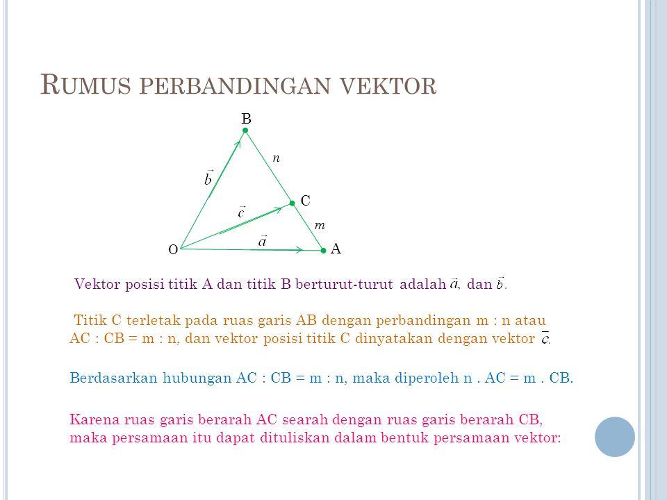 Rumus perbandingan vektor