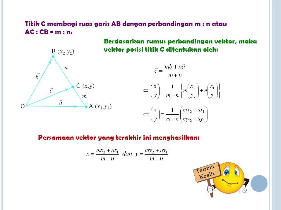 Persamaan vektor yang terakhir ini menghasilkan: