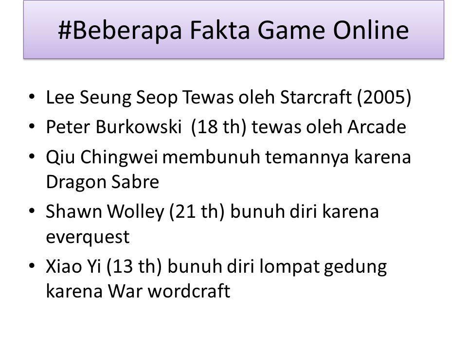 #Beberapa Fakta Game Online