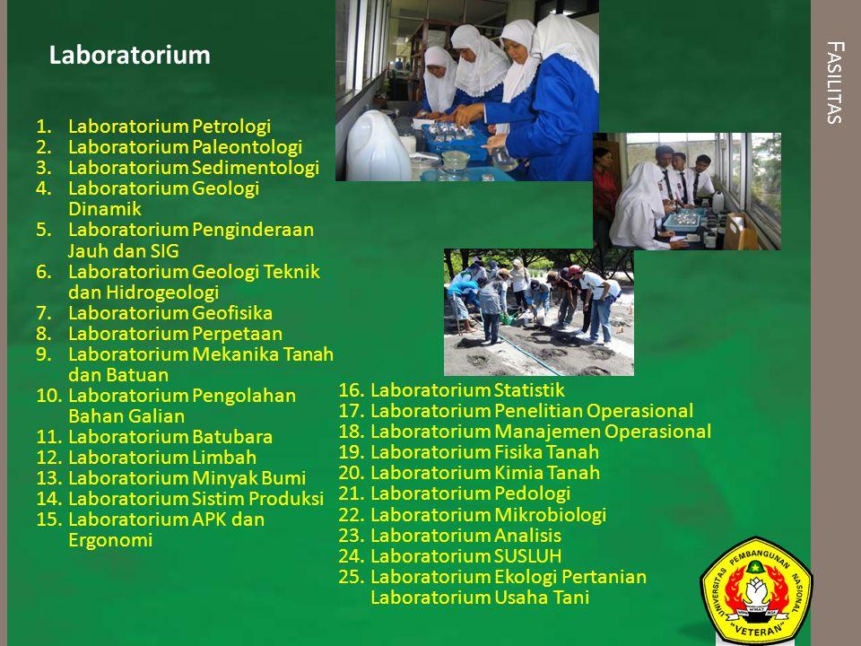 Laboratorium Fasilitas Laboratorium Petrologi