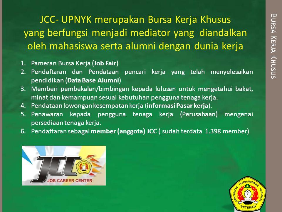 JCC- UPNYK merupakan Bursa Kerja Khusus